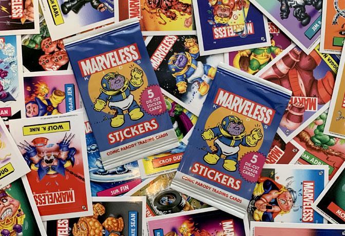 Marveless Kids Sticker Card Packs