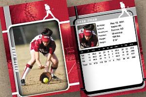 Sports custom trading cards golden glove template maxwellsz