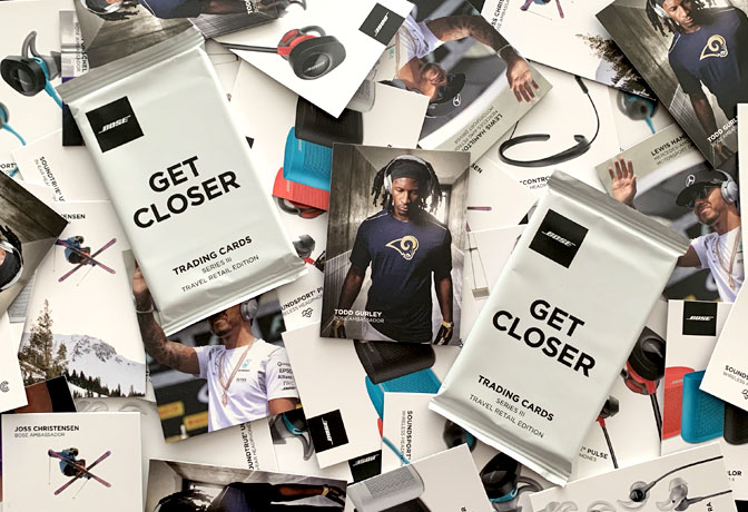"Bose ""Get Closer"" Trading Card Packs"