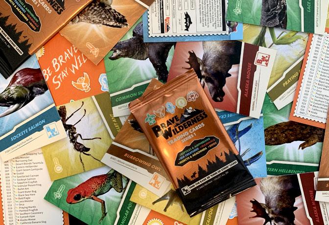 Brave Wilderness Trading Card Packs